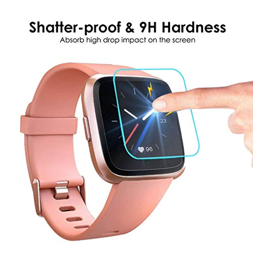 Sinma 3 Pack Tempered Glass Screen Film Protector for Fitbit Versa Lite Smart Watch (Clear) by Sinma Clearance (Image #3)