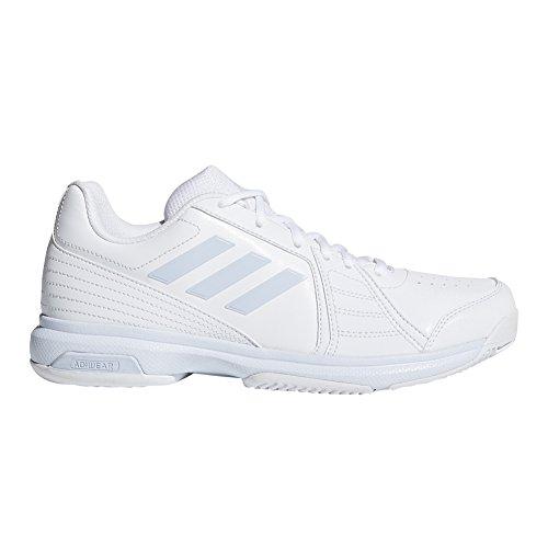 adidas Performance Women's Aspire Tennis Shoe, White/Aero Blue/White, 9.5 M US