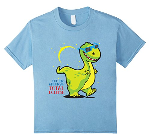 Price comparison product image Kids DINO Solar Eclipse August 2017 Shirt | Sun Eclipse T-Shirt 4 Baby Blue