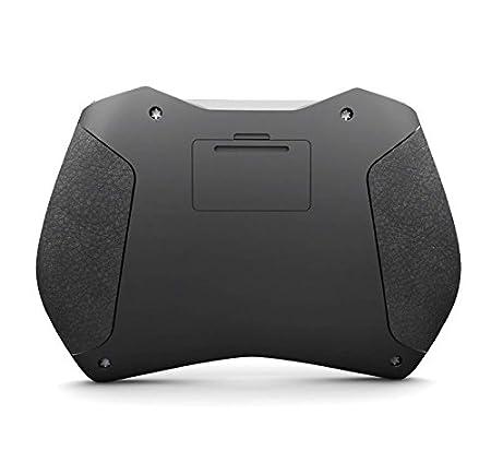 Rii Mini i28 One Wireless - Mini Tastiera retroilluminata con touchpad Microfono e Presa Audio Audio Jack 3.5 Layout Italiano Mouse giroscopico Nero