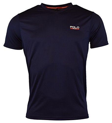 Ralph Lauren Polo Sport Mens Performance V-Neck Graphic T-Shirt - XXL - French Navy