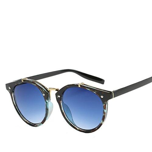 Polarized soleil amp;Blue Sunglasses des Green Round lunettes Retro Women's Men's Oversized Mirror Zhhaijq de Fashion 6tnqxgwx7p