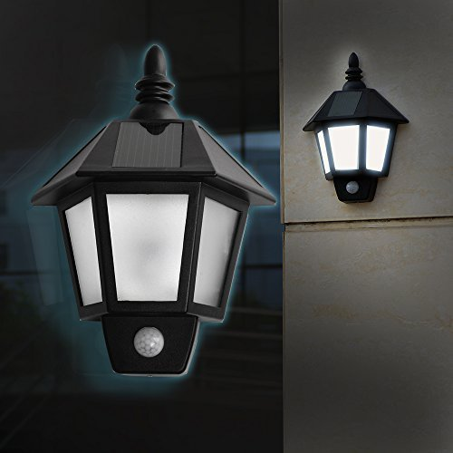 Solar Powered Motion Sensor LED Light Outdoor/ Waterproof Solar Power Light Wall light/ with Two Smart Modes /Wall Light Fixture Lamp for Garden, Pool Pond Patio, Deck, Two Light Path Fixture