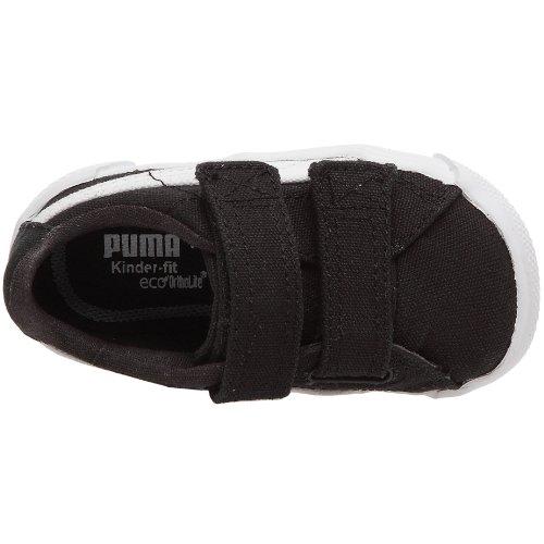Puma Benecio Canvas V Kids - Zapatillas de lona infantil negro/blanco