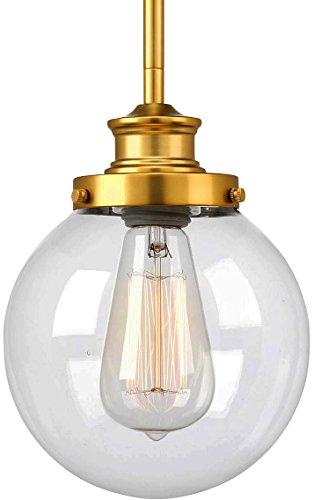 Satin Clear Gold Pendant (Luxury Vintage Pendant Light, Small Size: 9.5