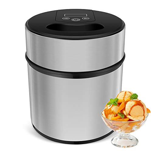 MVPower 2.1Quart Automatic Ice Cream Maker Frozen Yogurt & Sorbet Machine with Recipe ()
