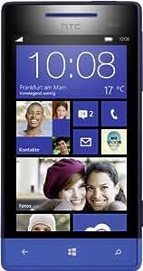 """HTC Windows Phone 8S - Smartphone libre (pantalla táctil de 4"""" 480 x 800, cámara 5 Mp, 4 GB, 2 procesadores de 1 GHz, 512 MB de RAM, S.O. Windows Phone 8), azul (importado)"""