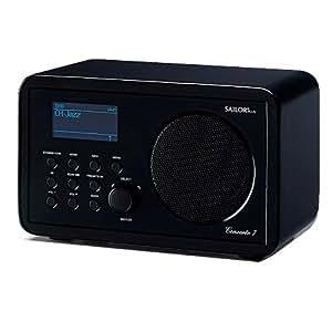 Sailor Concerto 7 - Radio (Wi-Fi, DAB+), diseño retro, color negro [importado de Alemania]