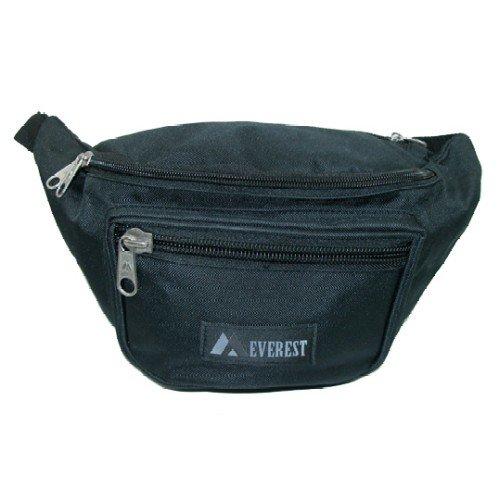 Large Size Fabric Waist Pack (Black), Outdoor Stuffs