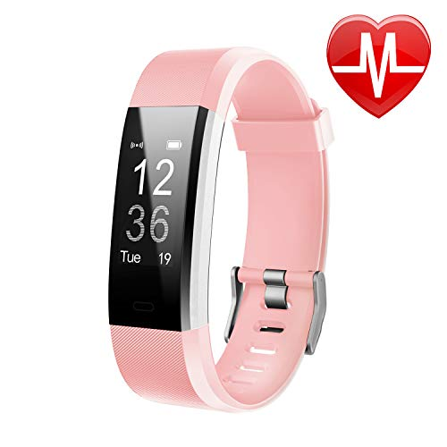 Letsfit Fitness Tracker HR, Activity Tracker Watch with Heart Rate Monitor, Pedometer, Sleep Monitor, 14 Sports Modes, Step Counter, Calorie Counter, IP67 Waterproof Fitness Watch for Kids Women Men (Best Fitness Tracker For Biking)