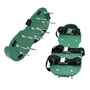 Icepark Lawn Aerator Shoes 4 Adjustable Straps And Plastic Buckles Heaves Duty Durable Garden Tool Shoes Extra Bonus Wrench