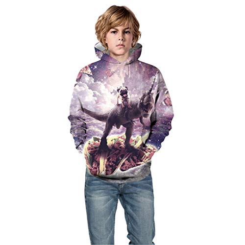 Children Winter Autumn 3D Hoodies Colorful Animal Cat Panda Ice Cream Galaxy Dinosaur Print Boy Girl Sweatshirt Show 8T