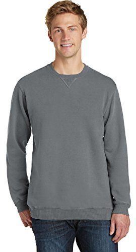 Port & Company Essential Pigment-Dyed Crewneck Sweatshirt PC098 Pewter XL