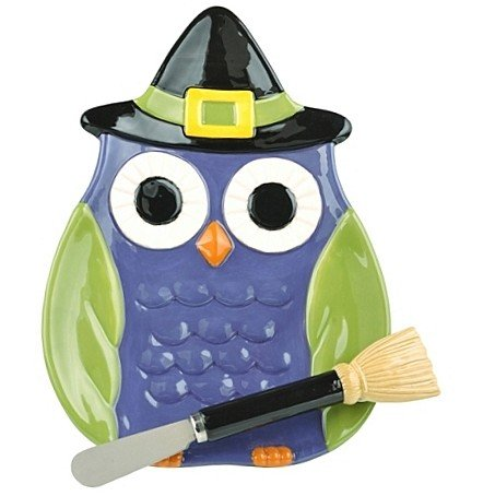 ~Halloween~ Midnight Owl Plate with Spreader #469967