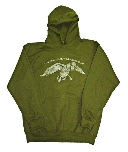 DUCK COMMANDER Long Sleeve Hoodie, Moss, Medium -