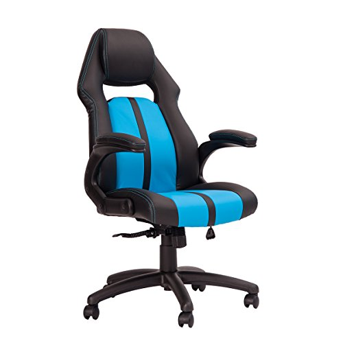 41z w04eFnL - Merax-Ergonomic-Racing-Style-PU-Leather-Gaming-Chair-for-Home-and-Office