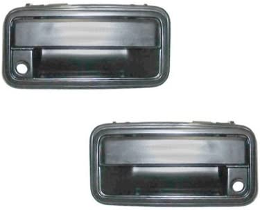 NEW Front Outside Door Handle Pair Set Black Fits 88-94 Chevrolet GMC Truck