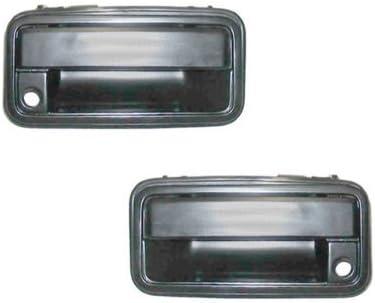 NEW Front Outside Door Handle Pair Set Black Fits 88-94 Chevrolet GMC Truck