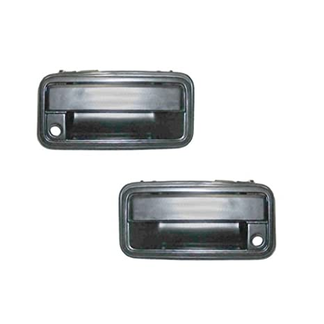 amazon com: fits 1988-1994 chevy pickup truck outside door handle - pair -  metal: automotive