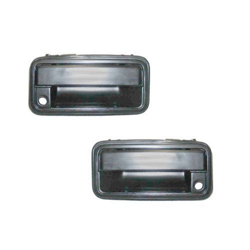 Fits 1988-1994 Chevy Pickup Truck Outside Door Handle - Pair - Metal ()
