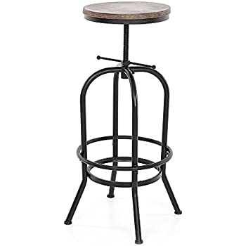 Amazon Com Best Selling Luke Fir Top Adjustable Bar Stool