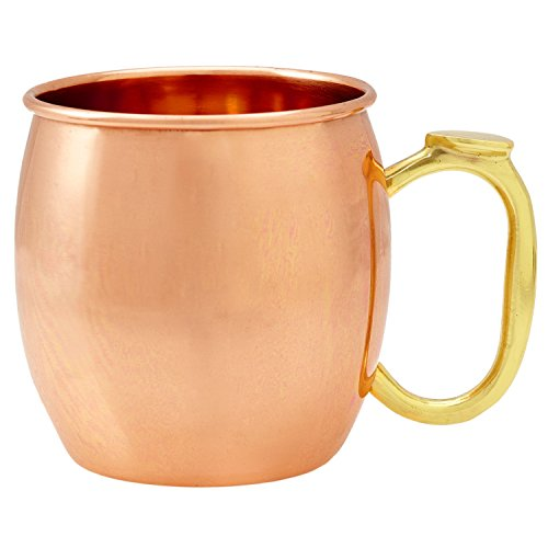 Solid Copper Moscow Mule Mug - Premium 100% Pure Copper 16oz Hammered Barware Cu by Drinkware Essentials