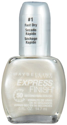 Snow Finish - Maybelline New York Express Finish 50 Second Nail Color, Snow Bunny 12, 0.5 Fluid Ounce