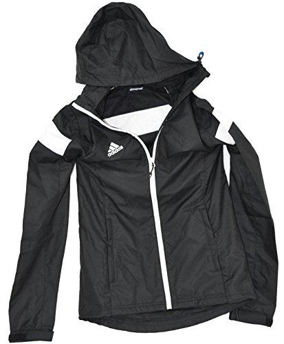 adidas Womens Team Woven Jacket, Black/White, Medium