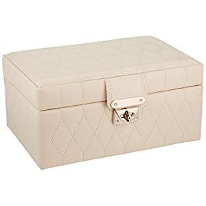 WOLF 329853 Caroline Small Jewelry Case, Ivory