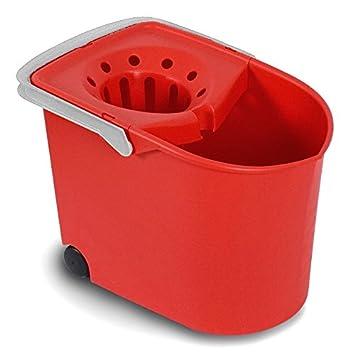 Tatay 1103209 Cubo de Fregar con escurridor y con Ruedas, Rojo, 25.50x38.20x28.00 cm: Amazon.es: Hogar