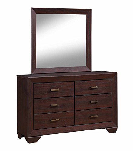 Coaster 204393-CO Fenbrook 6 Drawer Dresser, Dark Cocoa - Chocolate Coaster