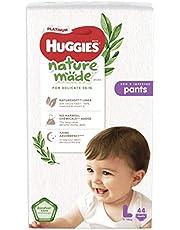 HUGGIES Platinum Naturemade Pants, L, 44 Pieces