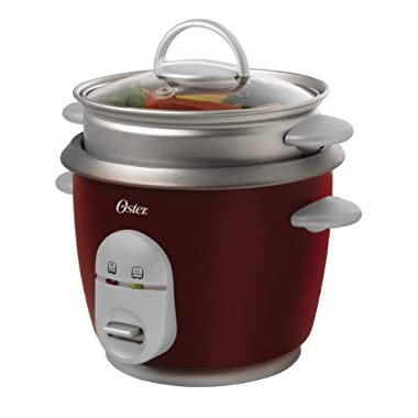 Oster 004722-000-000 Rice Cooker, 6 Cup, Red