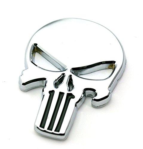 NylanYS THE Punisher Chrome 3D skull Skeleton Car Motorcycle body Badge Emblem - Punisher Body