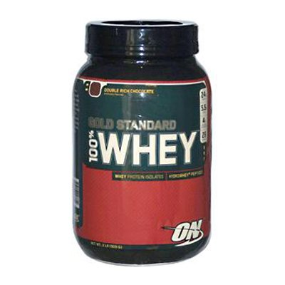 Optimum Nutrition Gold Standard 100% Whey Protein Powder, Double Rich Chocolate 2 Pound by Optimum Nutrition