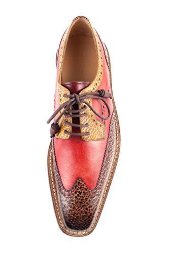 à EU Lacets 41 de Ville Chaussures 565 MH15 Rot amp; Melvin Hamilton pour Homme Rouge ZT8q860