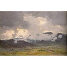 Oil painting 'Joseph Henry Sharp,Snow Clouds Taos Valley,1859-1953' printing on high quality polyster Canvas , 24x36 inch / 61x92 cm ,the best Foyer decoration and Home decoration and Gifts is this Cheap but High quality Art Decorative Art Decorative Prints on Canvas