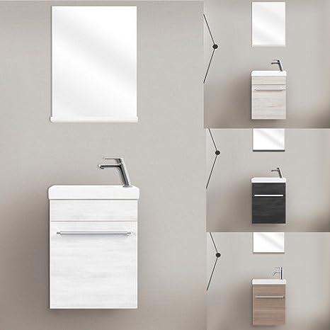 SAM Mobile con lavabo di 40 cm, arredo bagno in bianco, superficie ...