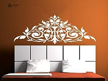 Apliques Tatuajes de pared Cabecero Decoración para el hogar Etiqueta Flor Vinilos de vinilo Dormitorio Principal Arte Decoración Xcm: Amazon.es: Bebé