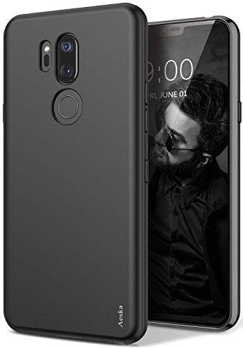 Aeska LG G7 Case, LG G7 ThinQ Case, Ultra [Slim Thin] Flexible TPU Gel Rubber Soft Skin Silicone Protective Case Cover for LG G7 / LG G7 ThinQ (Black)