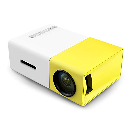 Mini Projector, YG-300 Portable Full Color LED LCD Video Projector, Video TV Movie, Party Game, Outdoor Entertainment with HDMI USB AV Interfaces and Remote Control by Docamor