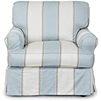 Sunset Trading Horizon Slipcovered Chair, Beach House Blue
