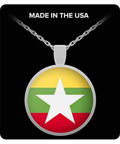 Myanmar Burma National Flag Round Pendant (Burma National Flag)