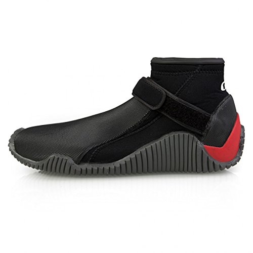 GILL Aquatech 3MM Neoprene Wetsuit Shoes Black - Unisex. Waterproof - Blindstitched Seams for Waterproof Seal