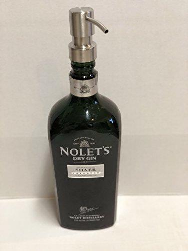 Dry Gin (Nolet's Dry Gin Silver Liquor Bottle Repurposed Soap Or Lotion Dispenser 750ml)