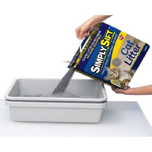 Simply Sift 3 Piece No Mess Cat Litter Tray System - As Seen on TV