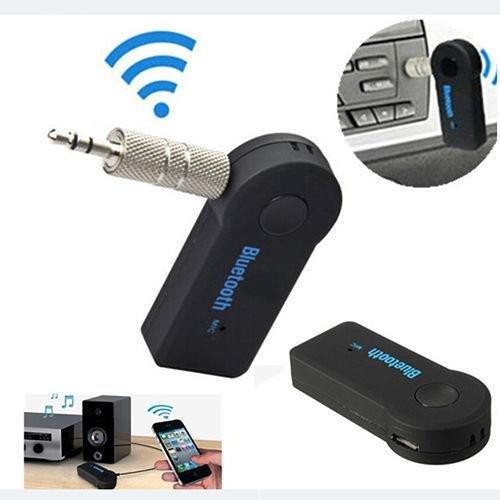 KOBWA Tragbare Drahtlos Bluetooth 3.0 Audio Musik Streaming Empfänger Adapter Audiogeräte für KFZ Auto Lautsprechersystem mit Stereo 3.5 mm Aux Input Jack