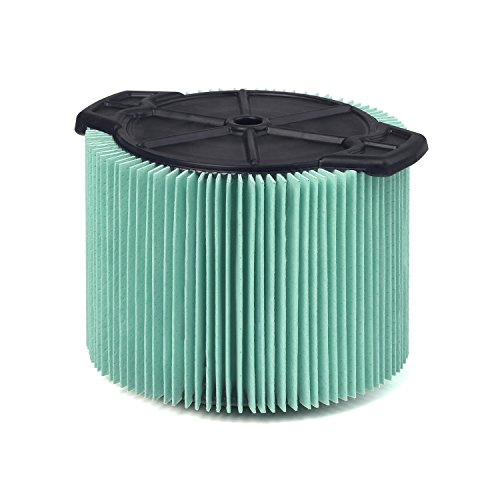 WORKSHOP Wet Dry Vacuum Filters WS13045F HEPA Media Filter For Shop Vacuum Cleaner (Single HEPA Media Filter For Wet Dry Vacuum Cleaner) Fits WORKSHOP 3-Gallon to 4-1/2-Gallon Shop Vacuum Cleaners (Media Filter Pleated)