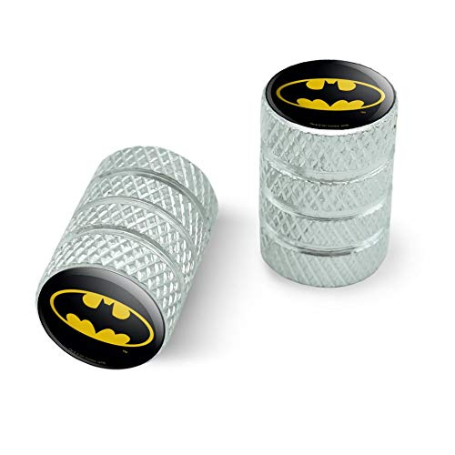 - GRAPHICS & MORE Batman Classic Bat Shield Logo Motorcycle Bicycle Bike Tire Rim Wheel Aluminum Valve Stem Caps - Aluminum