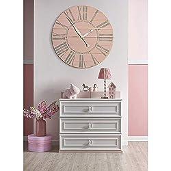 BrandtWorks Carrington Walnut Wall Clock, 30 x 30, Brown/White